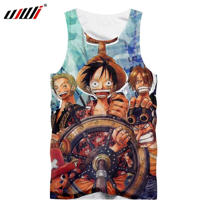 UJWI One Piece Mens Tank Top 3D Printed Sauron Luffy Sabo Naomi Robin Anime Man Casual The New Listing