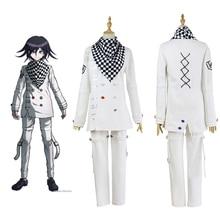 Anime Danganronpa V3 Ouma kokichi Cosplay kostüm japon oyun okul üniforması takım elbise kıyafeti