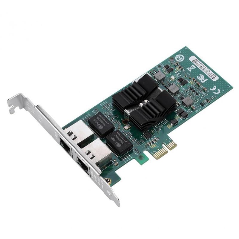 For Intel 82576-T2 Gigabit Pci-E Dual Port Network Adapter Card Desktop 1000Mbps Server Nic Led