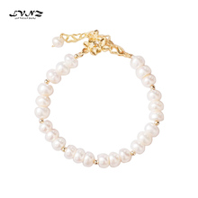 LVNZ 2019 New Hot Fashion High Quality Natural White Freshwater Pearls Bracelets Charm Statement Woman Trendy Jewelry 7094c zg 2018 new woman bracelets hot brand high quality exaggerated 4 colors chain statement charm bracelet jewelry