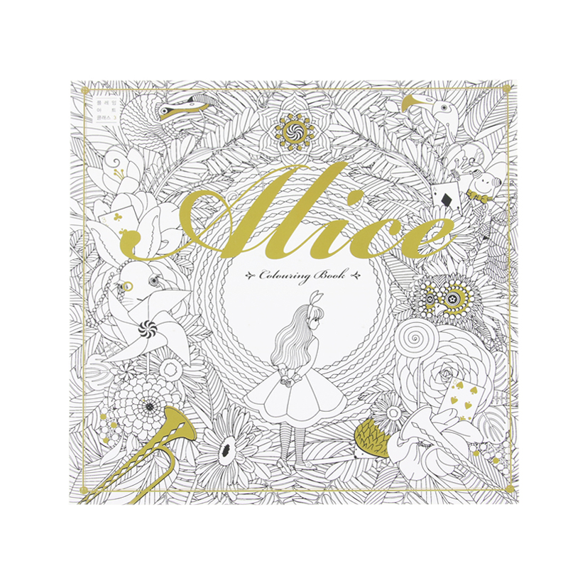 Relieve Stress Alice In Wonderland Colouring Book Secret Garden Style Coloring Book Kill Time Graffiti Painting Drawing Book 12 color pencils the colorful secret garden style coloring book for children adult relieve stress graffiti painting drawing book