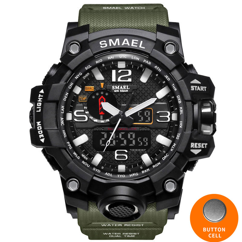 HTB1FHayfwoQMeJjy0Fpq6ATxpXaR - SMAEL Sport Watches for Men Waterproof Digital Watch LED Men's Wristwatch Clock Man 1545 montre homme Big Men Watches Military