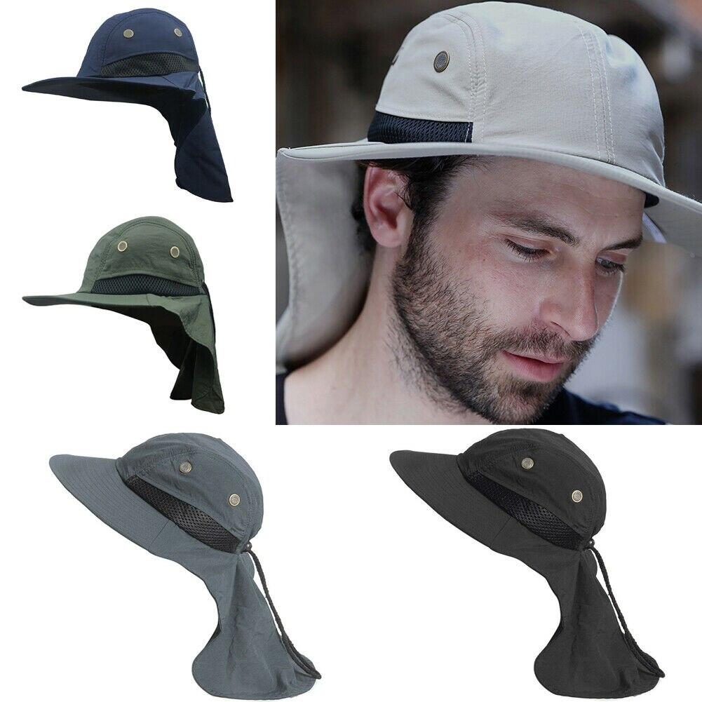 Mens Womens Outdoor Sun Hat Baseball Cap Legionnaire Fishing Ear Flap Neck Cover