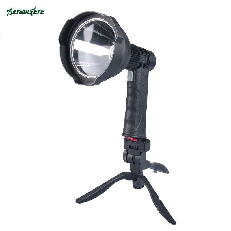 SKYWOLFEYE 1000 lumen lampe de poche LED torche 18650 avec support Camping Rechargeable étanche vélo herbe lumières USB batterie externe