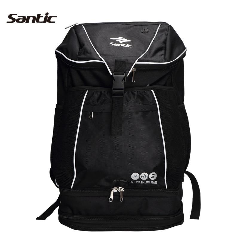 Santic Soft Sealing Bags Outdoor Hiking Spirit Black Shoulder Bicycle Bags Mountain Bike Cycling Bags Ride Equipment S34190501H santic black