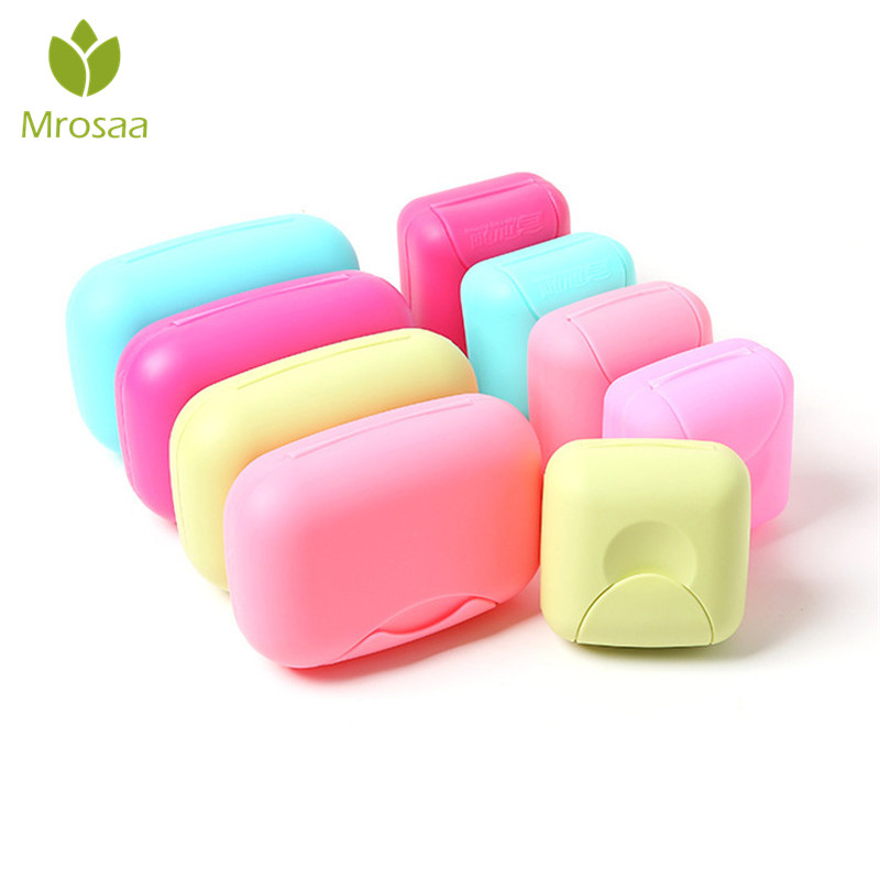 1 Pcs Mrosaa Portable Soap Dishes Bathroom Plate Case Travel Hiking Soap Holder Container PP Soap Box Rack Bathroom Products