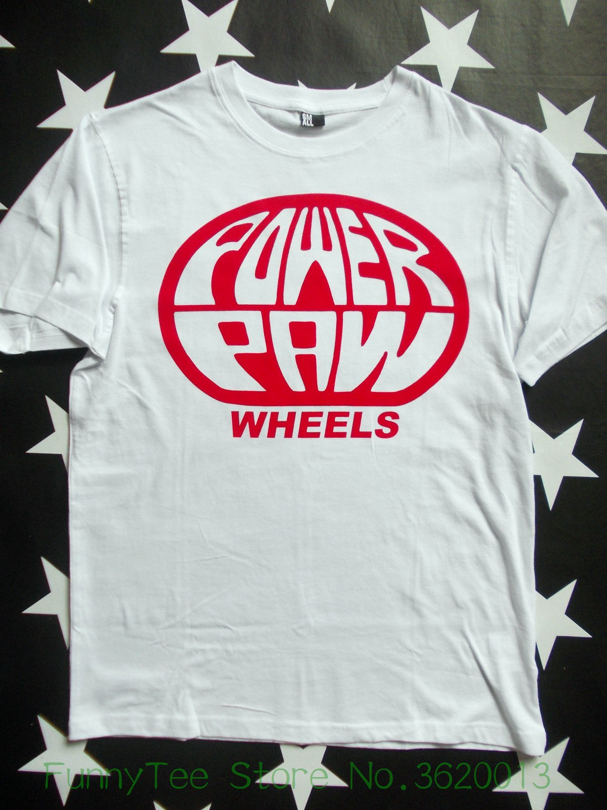 Womens Tee Power Paw Wheels 70s Skateboard Logo T-shirt Size S - 2xl Old Skool skateboarder 2018 Summer Harajuku Brand