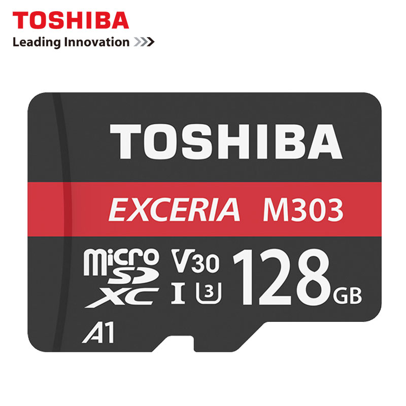 Toshiba extrait M303 carte MicroSD 256 GB 128 GB 64 GB U3 Class10 4 K HD V30 carte mémoire Flash 98 MB/s A1 MicroSDXC pour Smartphone