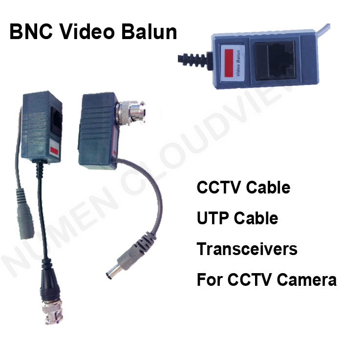 CCTV BNC video Balun UTP Video Balun power Passive Balun receiver Rj45,POE Power Video 2 in 1 Transceivers CCTV spare parts passive receiver