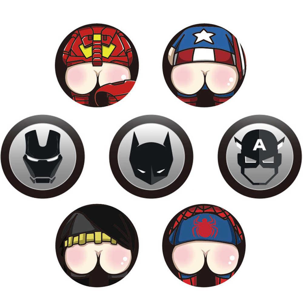 Marvel Comics Человек-паук Железный человек Капитан Америка Бэтмен для крышки топливного бака автомобиля забавные декоративные наклейки Мультяшные наклейки на бак для тела