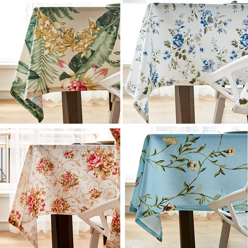 7styles Table Cloth Pastoral Tablecloth Rectangular Dining Table Cover For Kitchen Decorative Obrus Mantel Party Wedding Decor