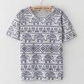 2016 Nova Moda Harajuku elephant imprimir Camiseta Mulheres Roupas Tops de manga curta O-pescoço Tee Camisetas