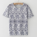 2016 Nueva Moda Harajuku elefante imprimir T Shirt Ropa de Mujer Camisetas de manga corta Del O-cuello Tee Camisetas