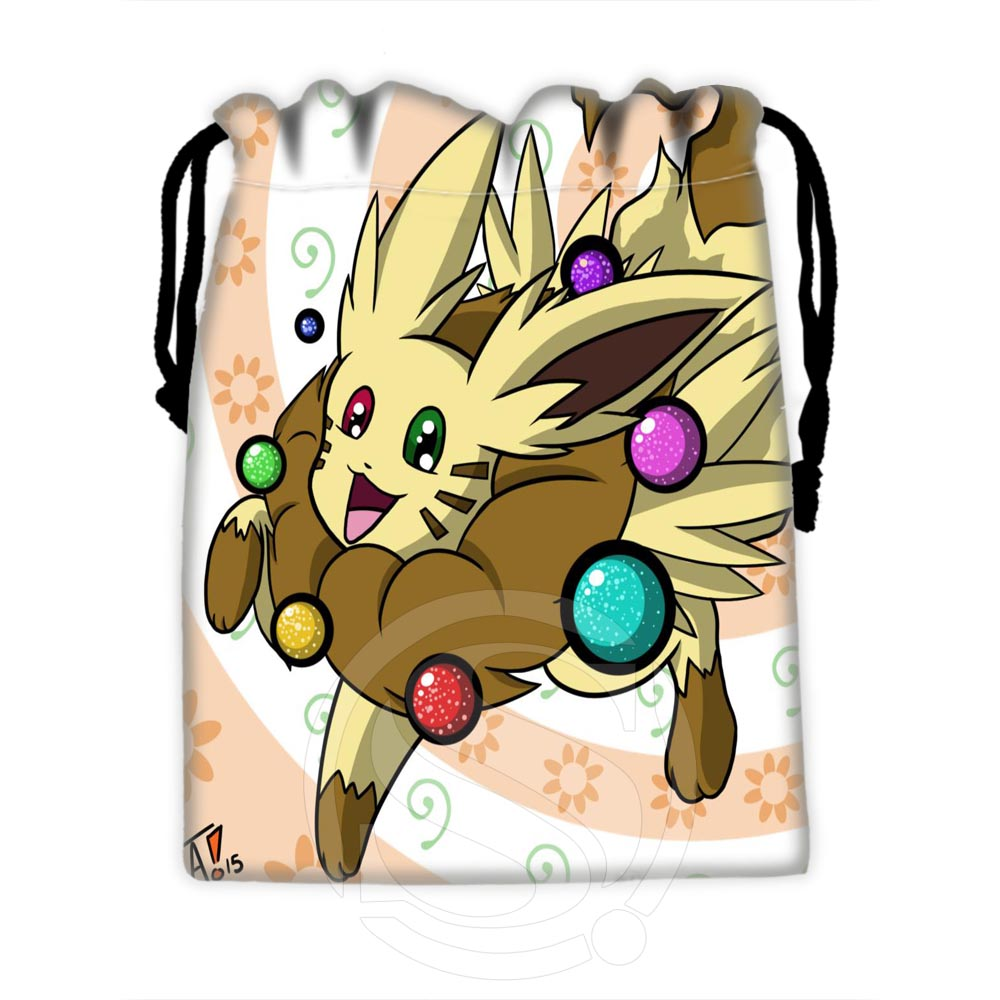Custom Eevee #7 High Quality Drawstring Bags For Mobile Phone Tablet PC Packaging Gift Bags18X22cm SQ00729-@H0569