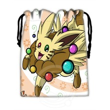 Custom Eevee 7 High Quality drawstring bags for mobile phone tablet PC packaging Gift Bags18X22cm SQ00729