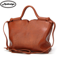 Andralyn Promotion Of New Style Woman Leather Handbag Fashion All Match Female Shoulder Bag Retro Oil