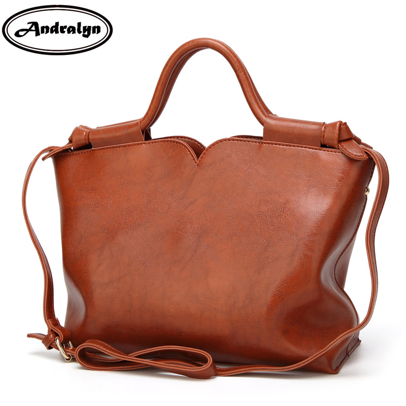 Andralyn Promotion of New Style Woman Leather Handbag Fashion All-match Female Shoulder Bag Retro Oil Wax Ladies Bag female 2017 new summer fashion bags handbag shoulder bag messenger bag all match meow princess of japan and south korea