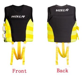 Children Life Vest S/M/L Neoprene+Soft Nylon Kids Life Jacket 2-Buckle PFD Vest Premium Neoprene Vest Water Ski Wakeboard 1