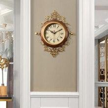 Американские часы для гостиной, креативные настенные часы в европейском стиле, ретро художественное украшение, настенные часы для дома, тихие модные настенные часы