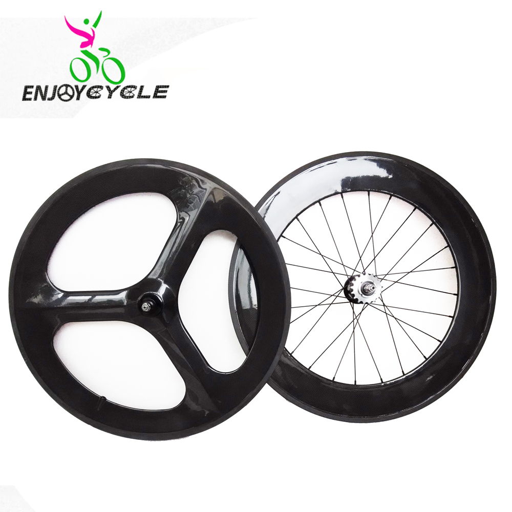 full carbon track wheelset 700C fixed bicycle clincher carbon ...