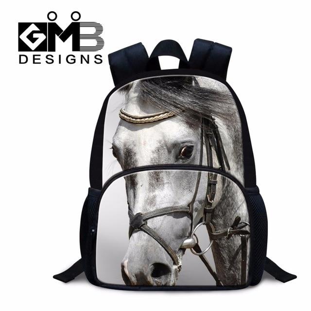 Horse Small School Backpack For Kids Children Mini Bookbags Kindergarten Cute Animal Felt Mochilas Fashion