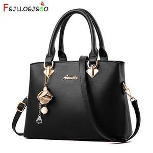 Image 1 - FGJLLOGJGSO New 2019 fashion tote lady Large handbag for luxury handbags women bags designer crossbody bags female leather bolsa