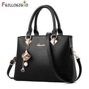 Image 1 - Fgjllogjgso novo 2019 moda tote senhora grande bolsa para bolsas de luxo bolsas femininas designer crossbody sacos de couro feminino bolsa