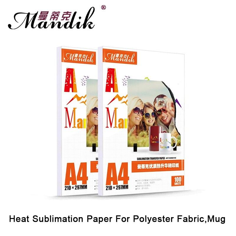 100gsm A3 A4 100 sheets per lot <font><b>inkjet</b></font> printing sublimation heat transfer photo paper