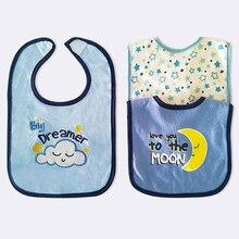 Детские Мультяшные нагрудники для малышей, Детские Водонепроницаемые хлопковые полотенца для кормления от 3 до 24 месяцев