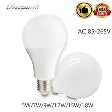 LED Lamp Energy Saving Light Bulb 85-265V LED Bulb Tubes Bedroom Living Room LED Bulb 5W/7W/9W/12W/15W/18W Cold/Warm White Lamp e14 7w 700 lumen 3500k 7 led warm white light lamp bulb ac 85 265v
