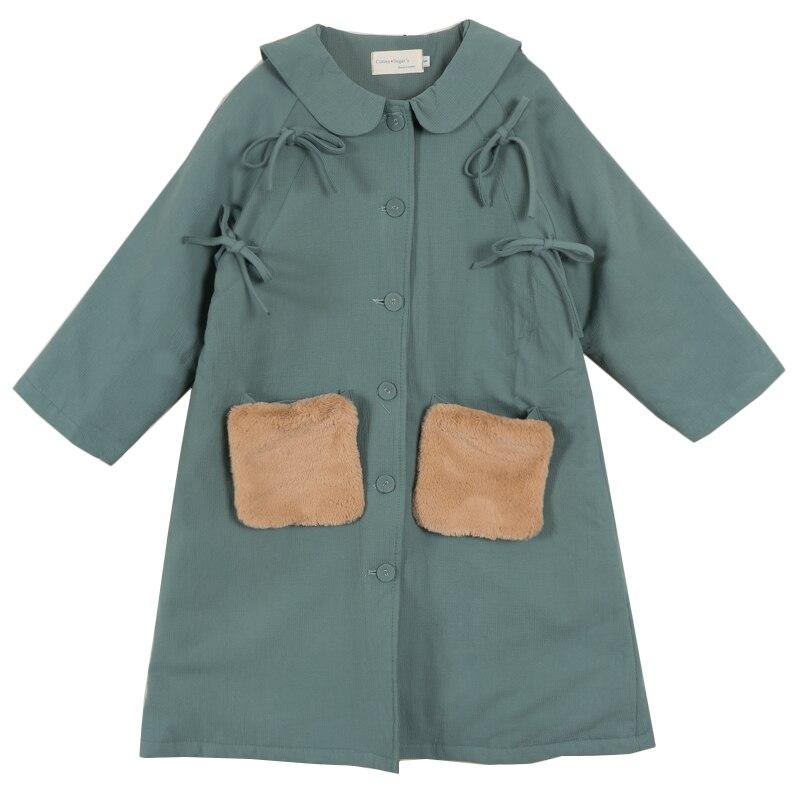 Tranchée Casual Printemps Arrivée 2018 Femmes Vêtements Automne Pardessus Nouvelle Manteau Vert Longue Zqw6PHTZ
