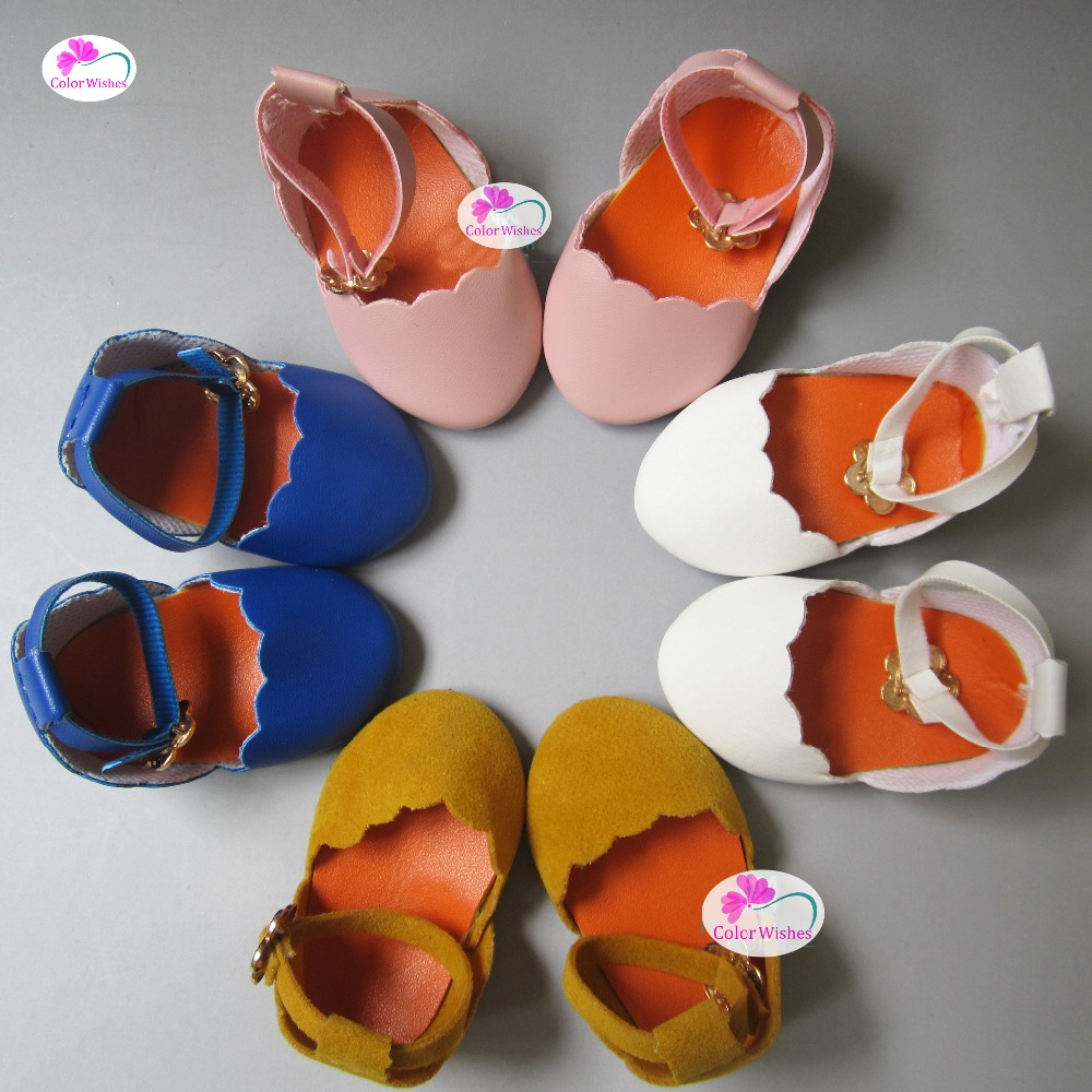 one pair 7cm Fashion PU leather toy doll shoes for 18 inches 45cm American Girl lifelike american 18 inches girl doll prices toy for children vinyl princess doll toys girl newest design