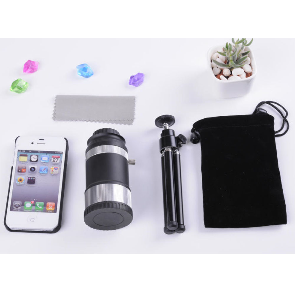 Professional Universal Metal Micro 14X 40mm Telephoto Lens Kit Phone Lens with Clip and Tripod for Samsung iPhone 7 6 SmartphoneProfessional Universal Metal Micro 14X 40mm Telephoto Lens Kit Phone Lens with Clip and Tripod for Samsung iPhone 7 6 Smartphone