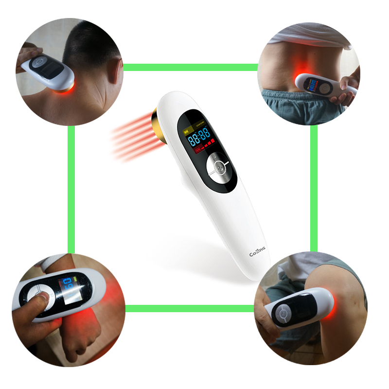 Medical Laser therapy Electronic device Home remedies Neck and Back pain reliever Hand held acupuncture LLLT Massager Device high power low frequency therapy pain relief cold laser device lllt