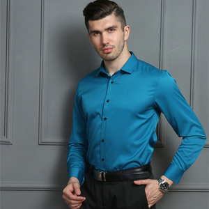 Image 3 - 2020 גברים חולצות אביב סתיו חדש הגעה Slim Fit זכר חולצה מוצק ארוך שרוול בסגנון בריטי כותנה גברים של חולצה להאריך ימים יותר YN10383