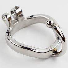 Steel Cock Cage Base Arc Ring with Testis separation Device Sex Toys for Men Chastity Device