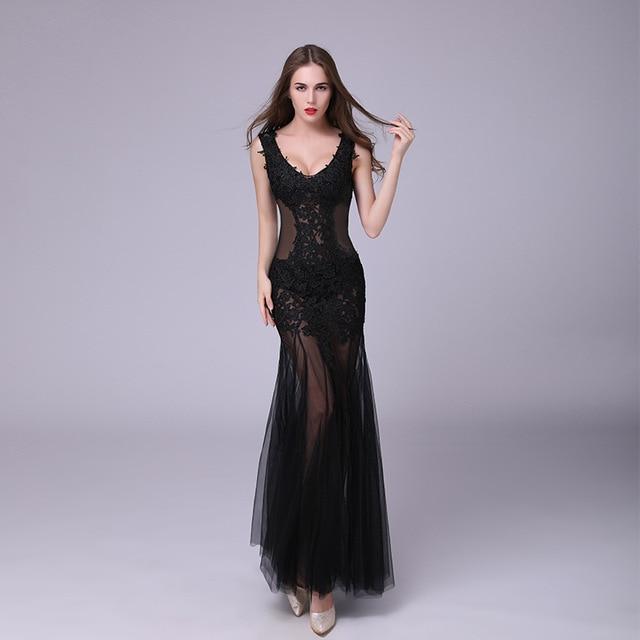 2017 Plus Size Women Summer Dresses Sexy Elegant Mermaid Robe Prom Lace Backless Evening Party Club Women Long Maxi Beach Dress