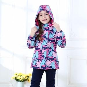 Image 2 - Waterproof Index 5000mm Warm Baby Girls Jackets Child Coat Polar Fleece Children Outerwear For 3 12 Years Old Winter Autumn
