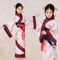 Crianças Traje Hanfu Traje Chinês Dança Menina Crianças Chinês Tradicional Crianças Traje Do Estágio Roupas de Dança Roupas de Cinema 18