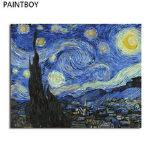 PAINTBOY Oil Painting Framed Picture Paintng By Numbers Handpainted Canvas Painting Home Decor For Living Room Wall Art(China)