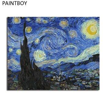 Paintboy油絵額ピクチャーpaintng数字で手塗りキャンバス絵画家の装飾リビングルームの壁アート