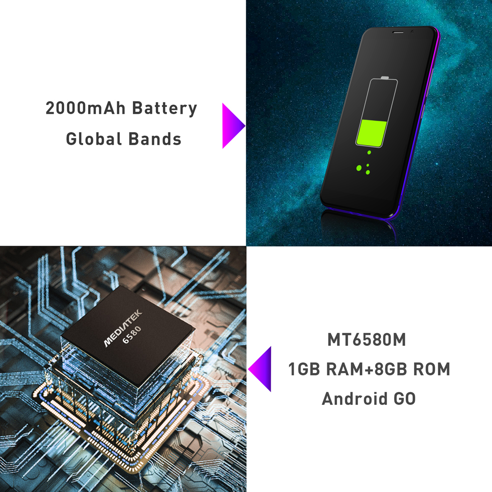 Image 5 - LEAGOO Z10 Android 5.0inch Mobile Phone MT6580M Quad Core Dual SIM WCDMA 3G Cellphone Dual 5.0MP Cams 2000mAh Baterry Smartphone-in Cellphones from Cellphones & Telecommunications