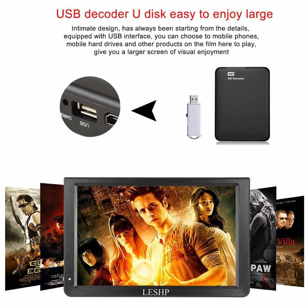 Draagbare D12-DVBT-2 Multimedia Speler LCD-SCHERM met Digitale TV Tuner 12.1 inch Monitor LED Panel Driver HD USB/TF