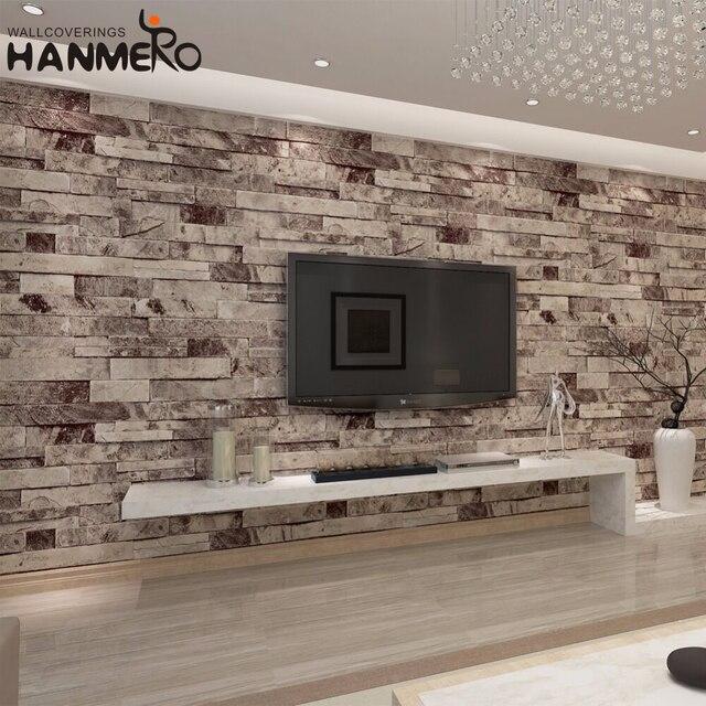 HANMERO Vintage Rot Weiß Ziegel 3D Tapete für wohnzimmer Gym papel ...