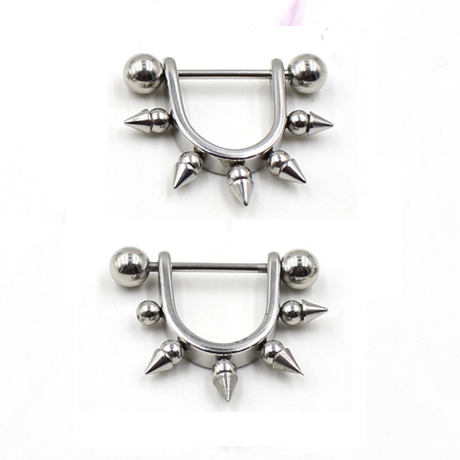 Aliexpresscom  Buy 2Pcs Stainless Steel Spikes Nipple -4911