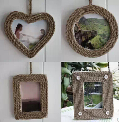 4pcslot home photo frames wall decoration heart circle square shapes picture frames home decor