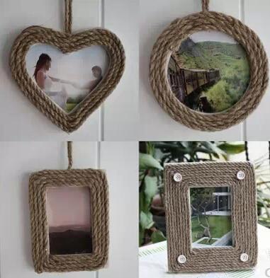 4pcslot Home Photo Frames Wall Decoration Heart Circle Square