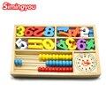 Simingyou Деревянные игрушки Монтессори цифровой счеты будильник обучающие игрушки для детей деревянные блоки детей игрушки SG42