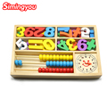 Simingyou Montessori De Madera juguetes digital despertador ábaco juguetes educativos para niños bloques de madera los niños juguetes SG42