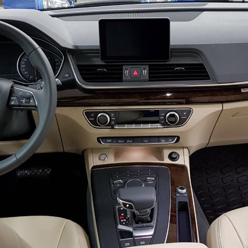 Plug and Play Car Video Multimedia Interfac For Audi Q5 2018 Rear Camera And Front Camera input With Parking Guidelines